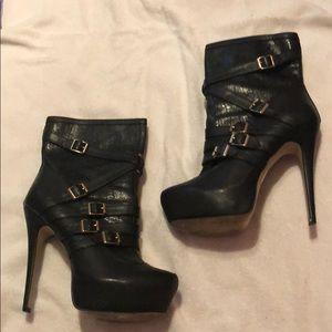 Platform bootie heels
